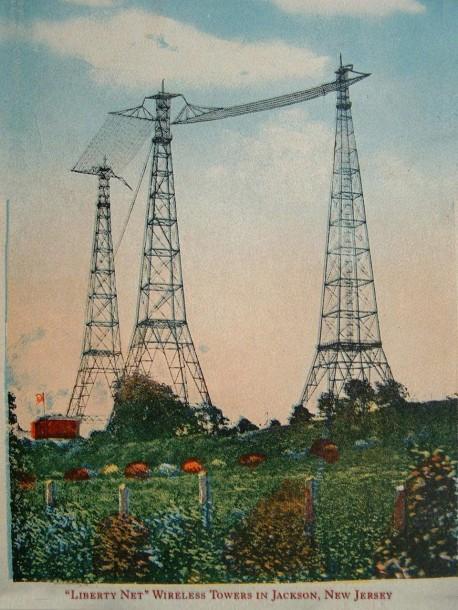 Liberty Net - towers postcard