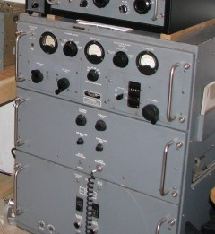 T-368 transmitter: mine was built by Barker and Williamson in 1954 and the paint was still shiny and the copper-plated chassis still brilliant when I let it go in the 1990s. I modified mine to have class AB1 4-400s modulating the single 4-400 and built a capacitor-coupled dual 6SJ7 driver loosely based on an RCA broadcast design, adding global negative feedback and an RCA broadcast modulation transformer.