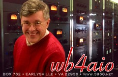 Recent WB4AIO QSL card